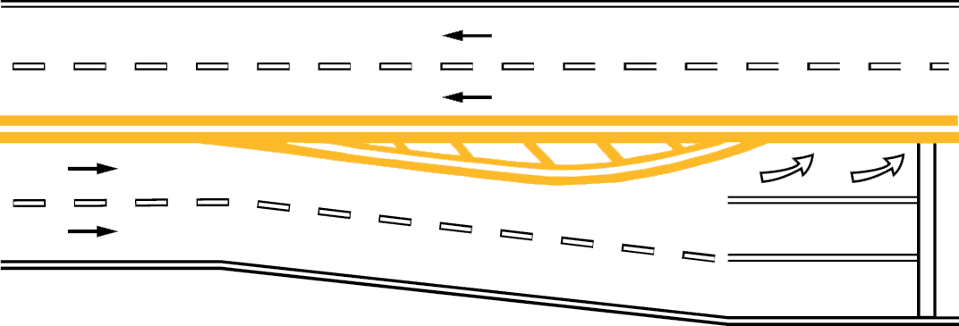 When you see a solid yellow line on your side of the center line, do not try to pass.