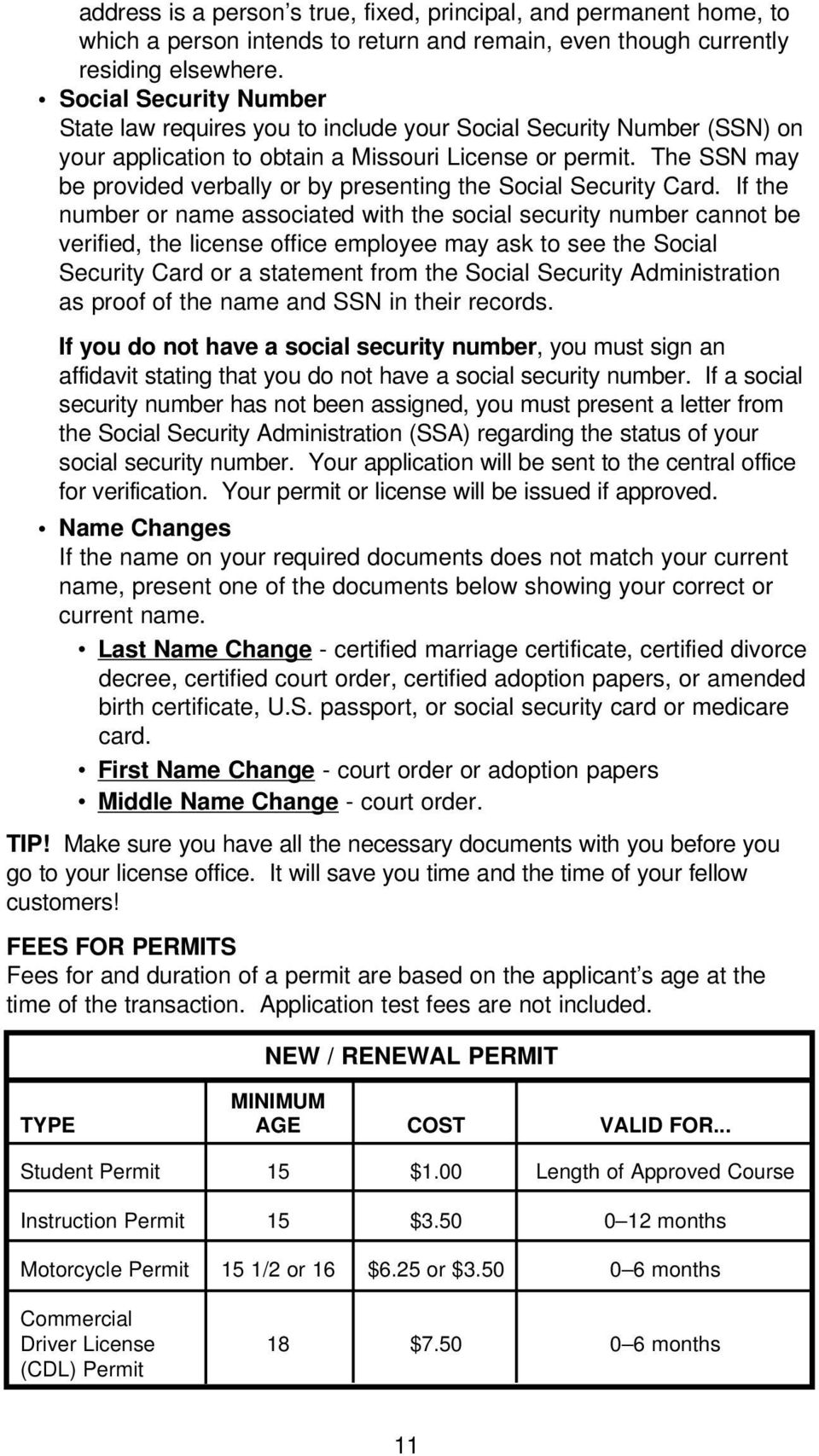 The SSN may be provided verbally or by presenting the Social Security Card.