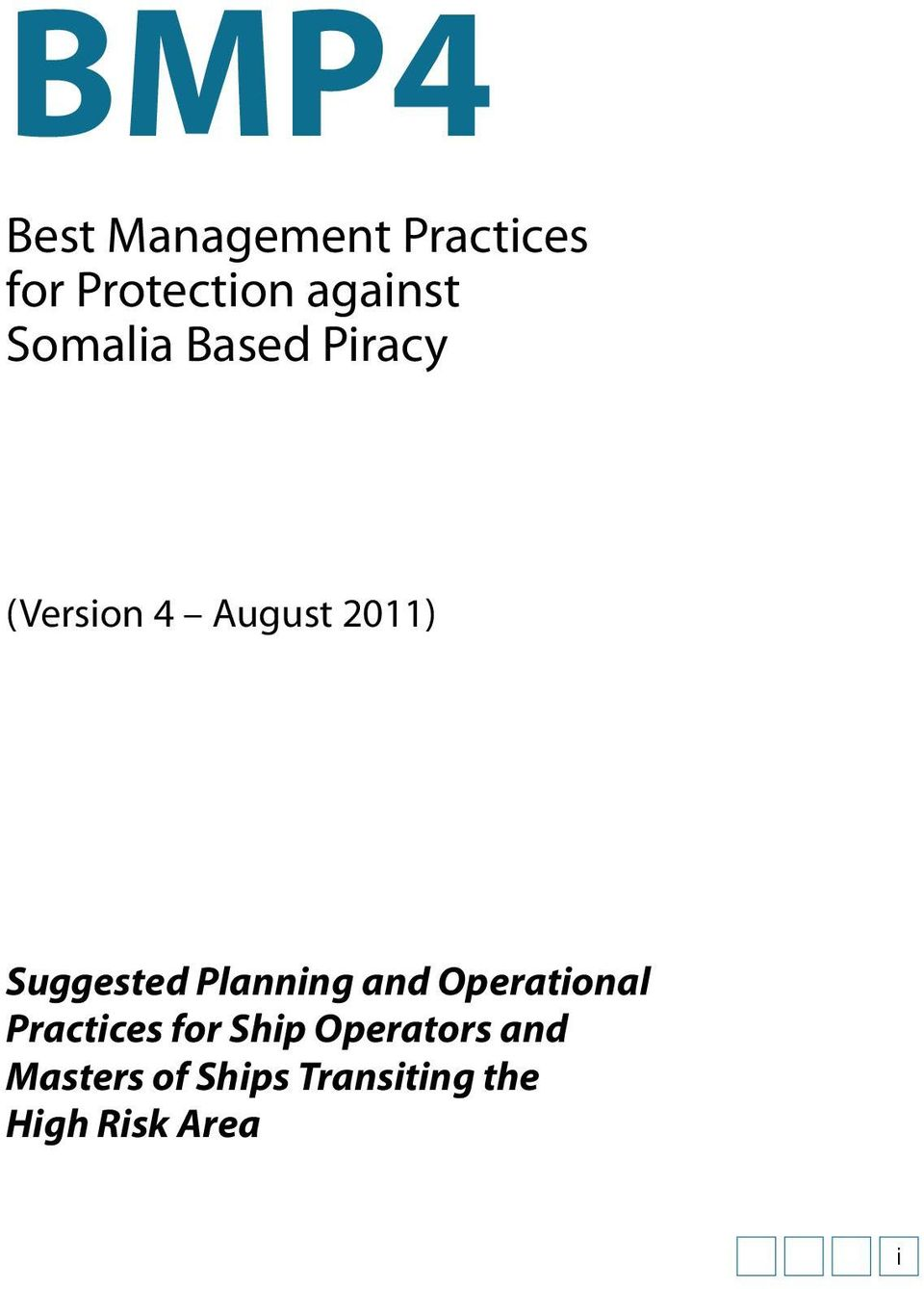 Suggested Planning and Operational Practices for Ship