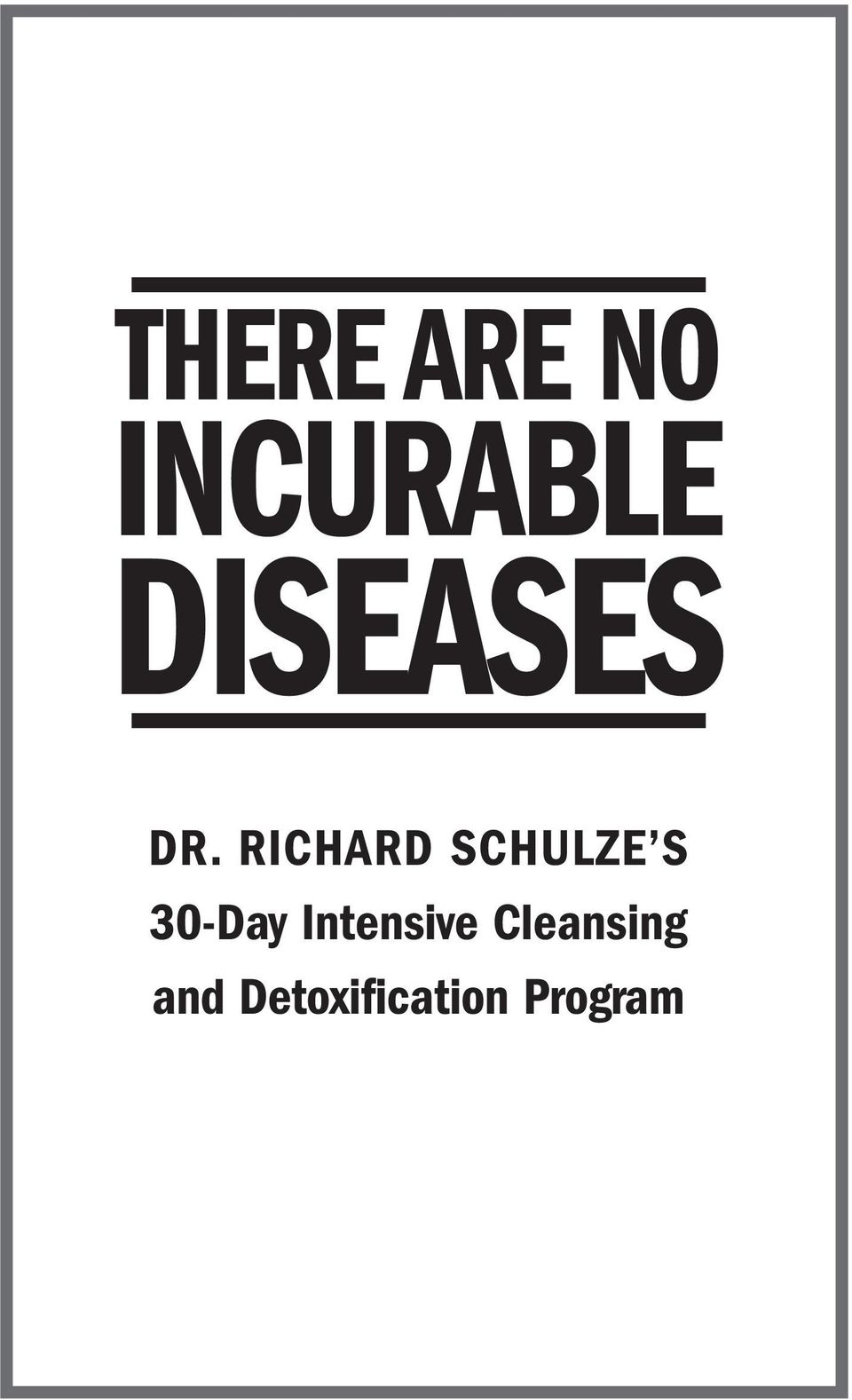 RICHARD SCHULZE S 30-Day