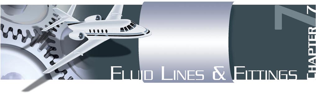 Aircraft fluid lines are usually made of metal tubing or flexible hose.