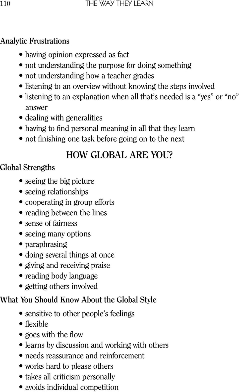 task before going on to the next HOW GLOBAL ARE YOU?