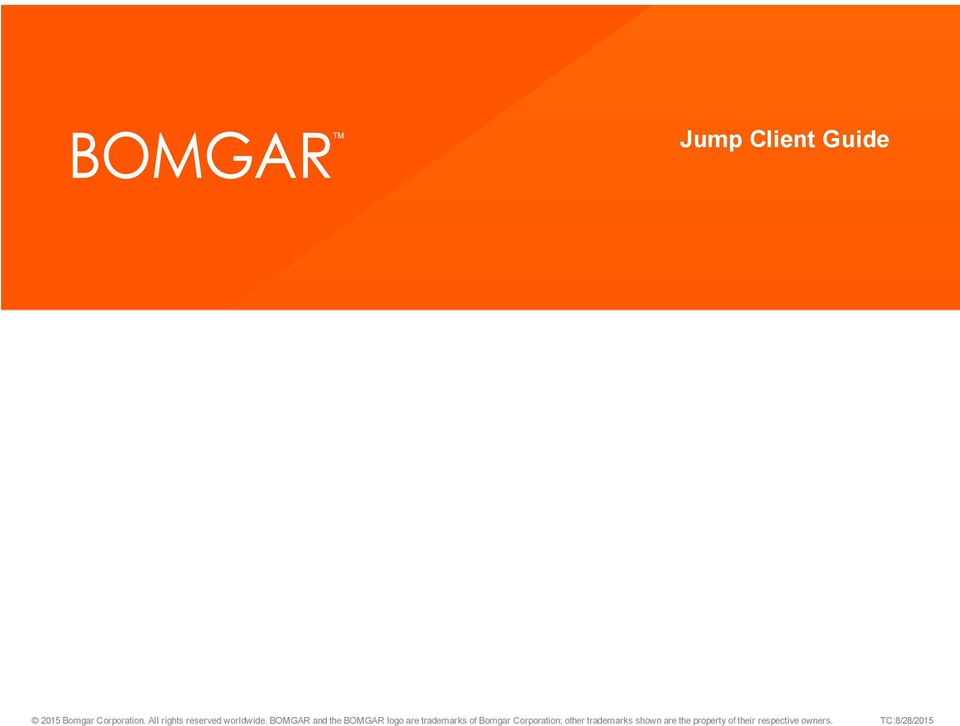 Remote support jump client guide unattended access to - Download bomgar representative console ...