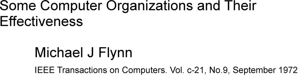 Flynn IEEE Transactions on
