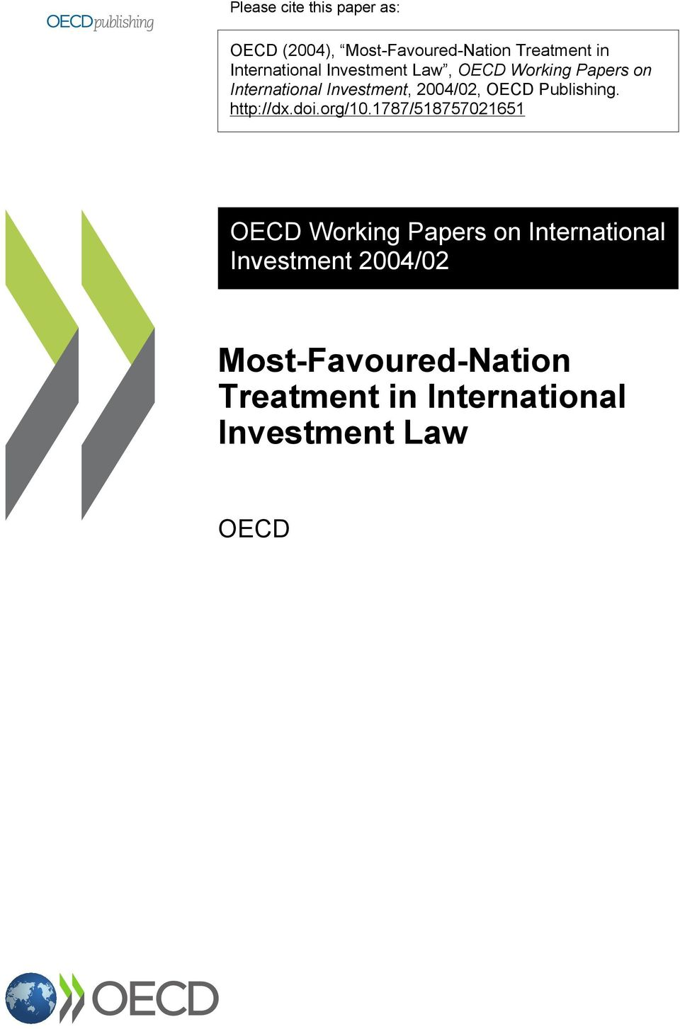 2004/02, OECD Publishing. http://dx.doi.org/10.