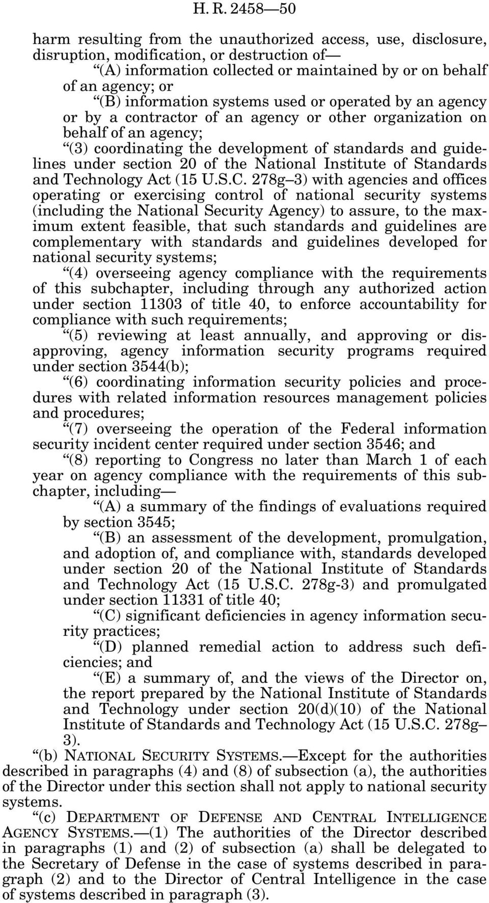 section 20 of the National Institute of Standards and Technology Act (15 U.S.C.
