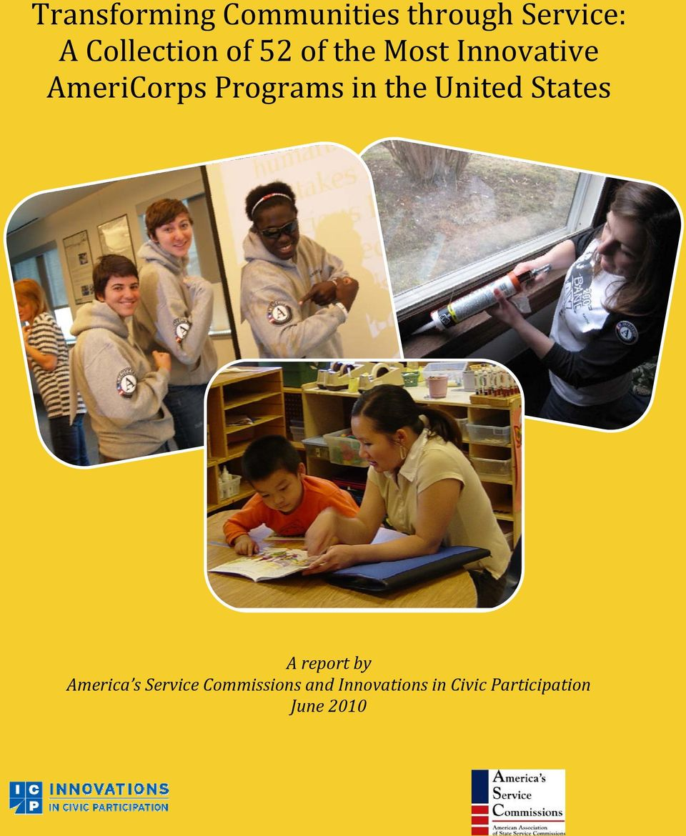 Programs in the United States A report by America s