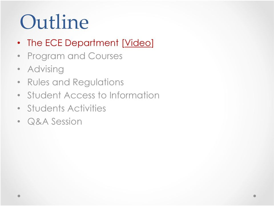 and Regulations Student Access to