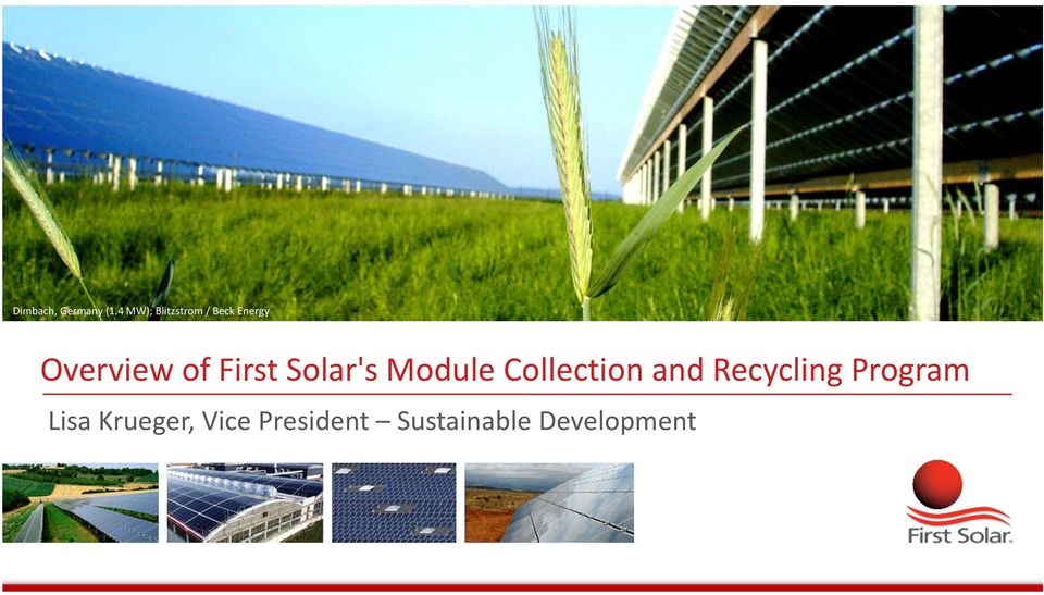 of First Solar's Module Collection and
