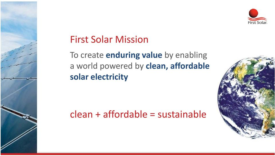powered by clean, affordable solar