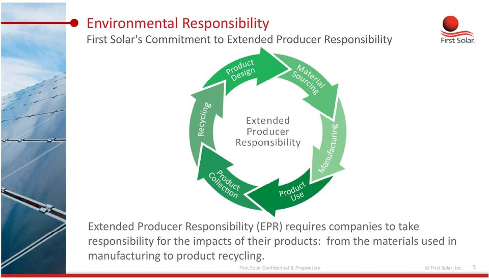 take responsibility for the impacts of their products: from the materials used in
