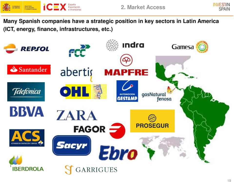 in key sectors in Latin America