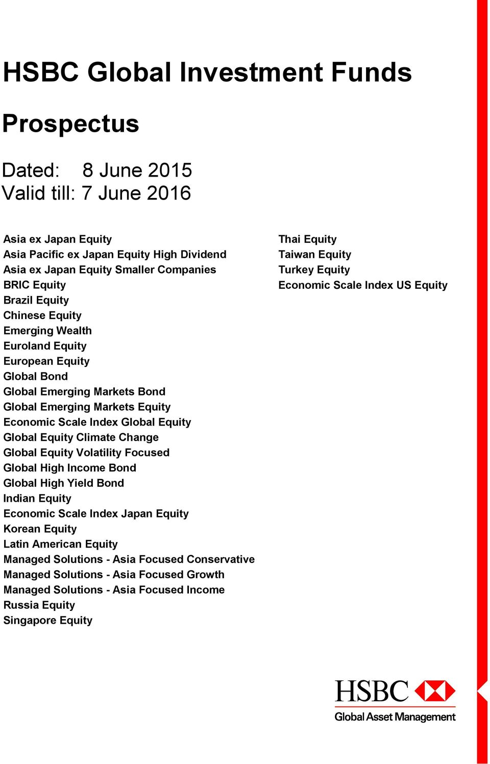 HSBC Global Investment Funds Global Equity Climate