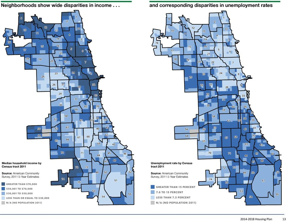 by Census tract 2011 Source: American Community Survey, 2011 5-Year Estimates