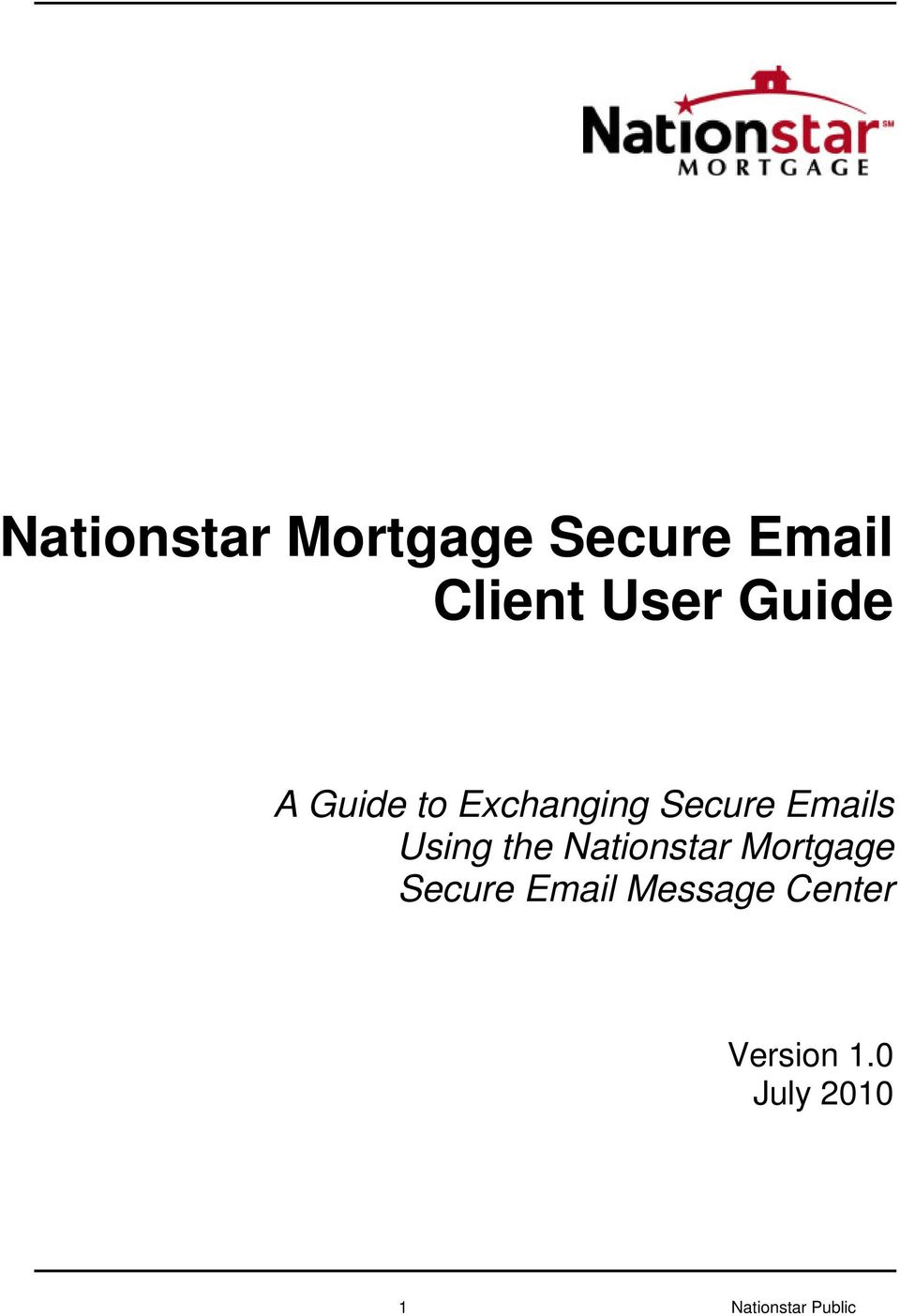Using the Nationstar Mortgage Secure Email