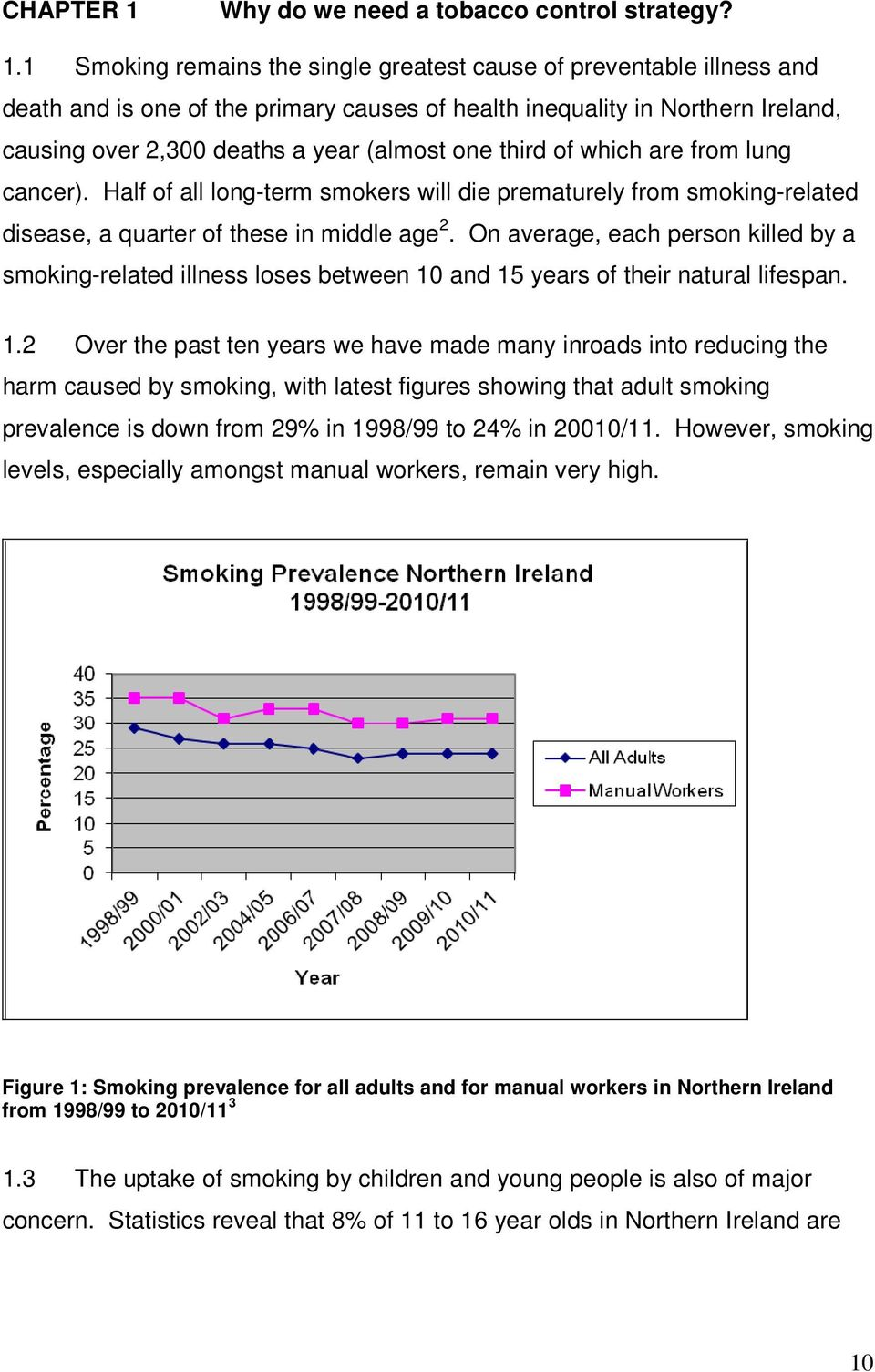 1 Smoking remains the single greatest cause of preventable illness and death and is one of the primary causes of health inequality in Northern Ireland, causing over 2,300 deaths a year (almost one