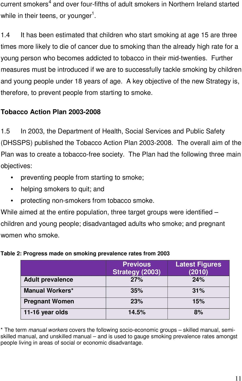 tobacco in their mid-twenties. Further measures must be introduced if we are to successfully tackle smoking by children and young people under 18 years of age.