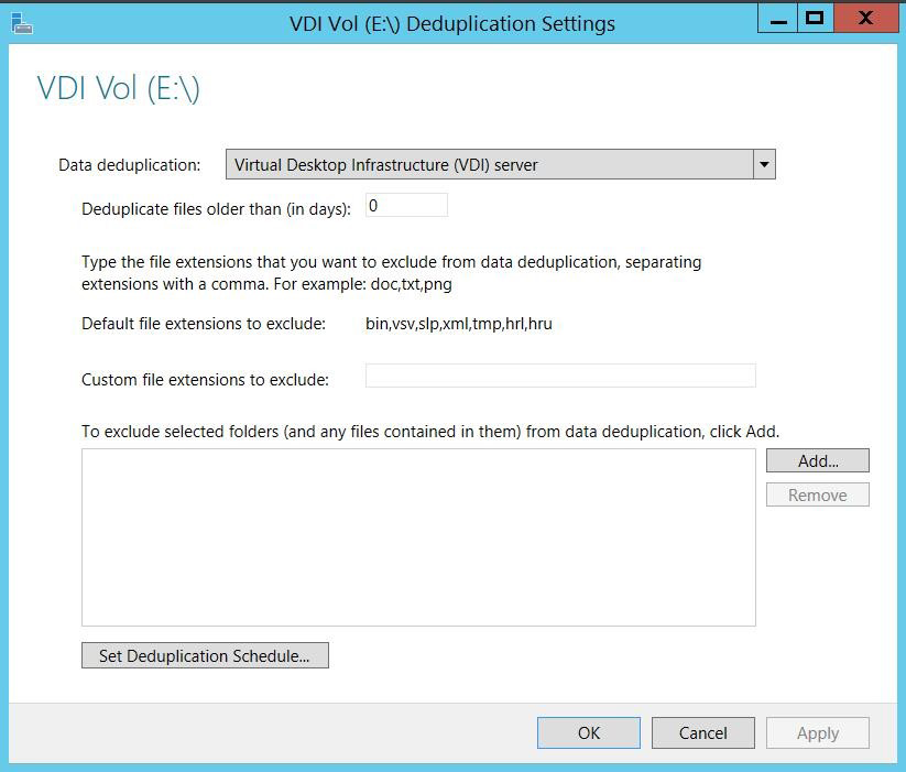 Enable Users Figure 5 provides deduplication on your schedule Windows Server 2012 delivered several enhancements to the Remote Desktop Protocol (RDP) that improves the performance of remote desktops