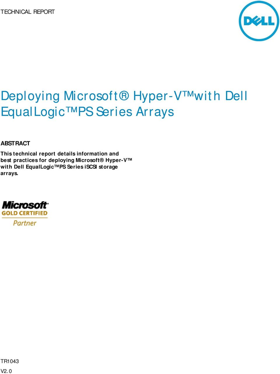 details information and best practices for deploying Microsoft