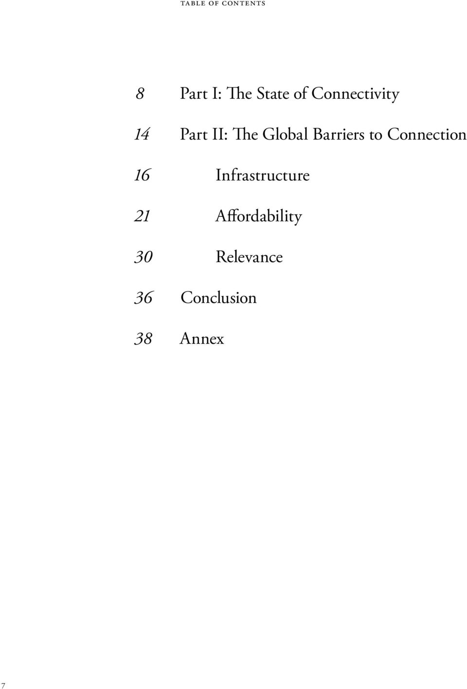 Global Barriers to Connection