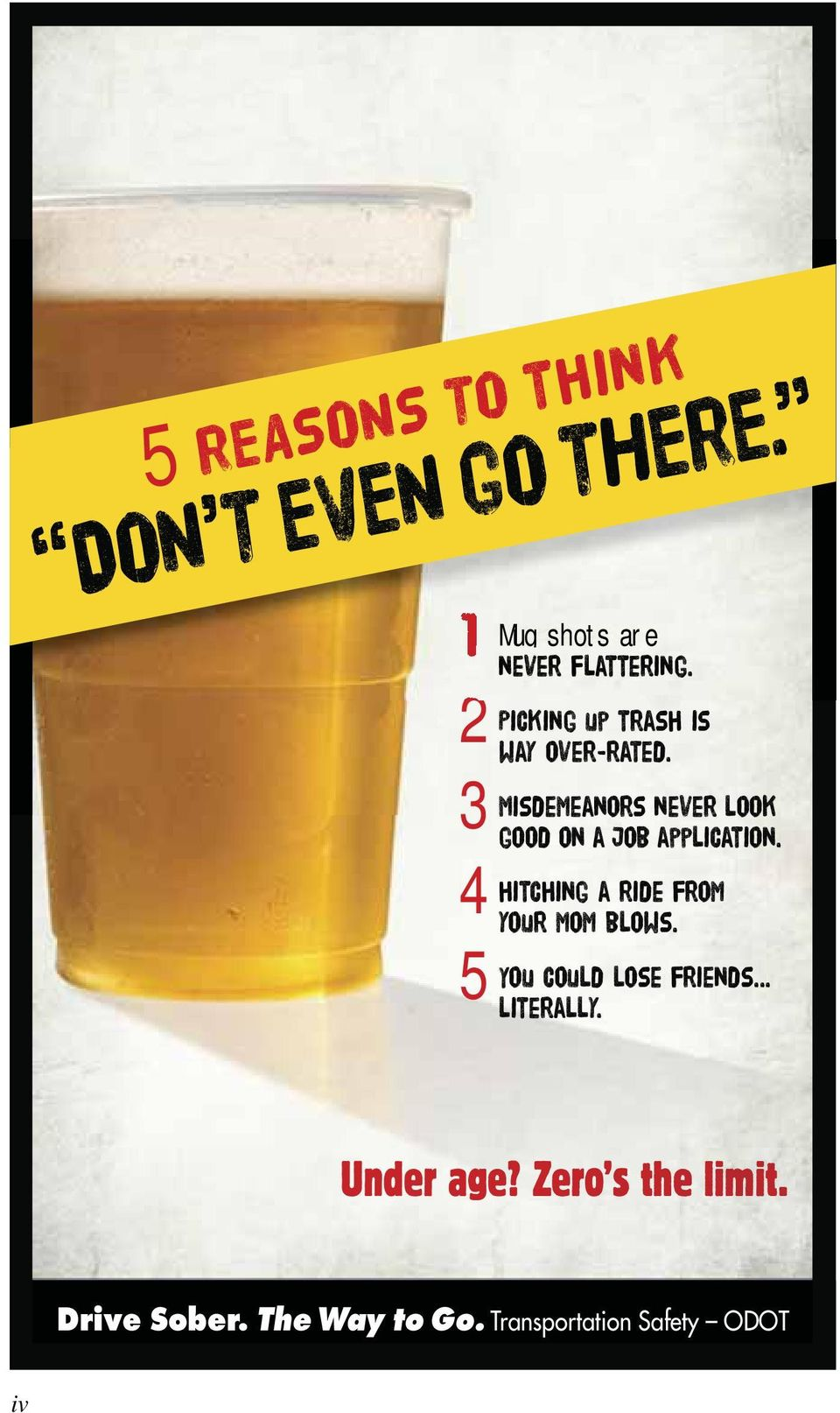 Drive Sober. The Way to Go.