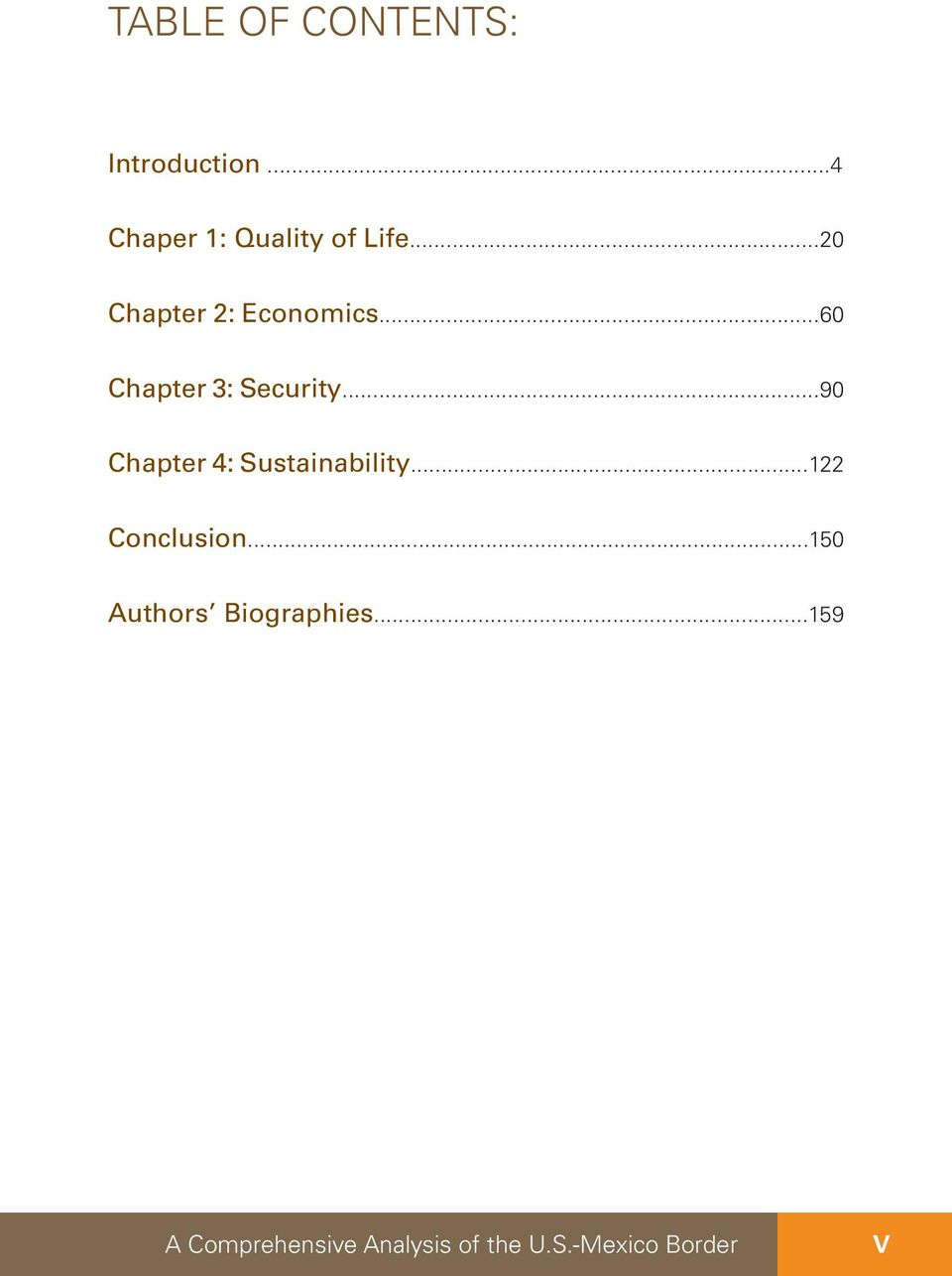 ..90 Chapter 4: Sustainability...122 Conclusion.