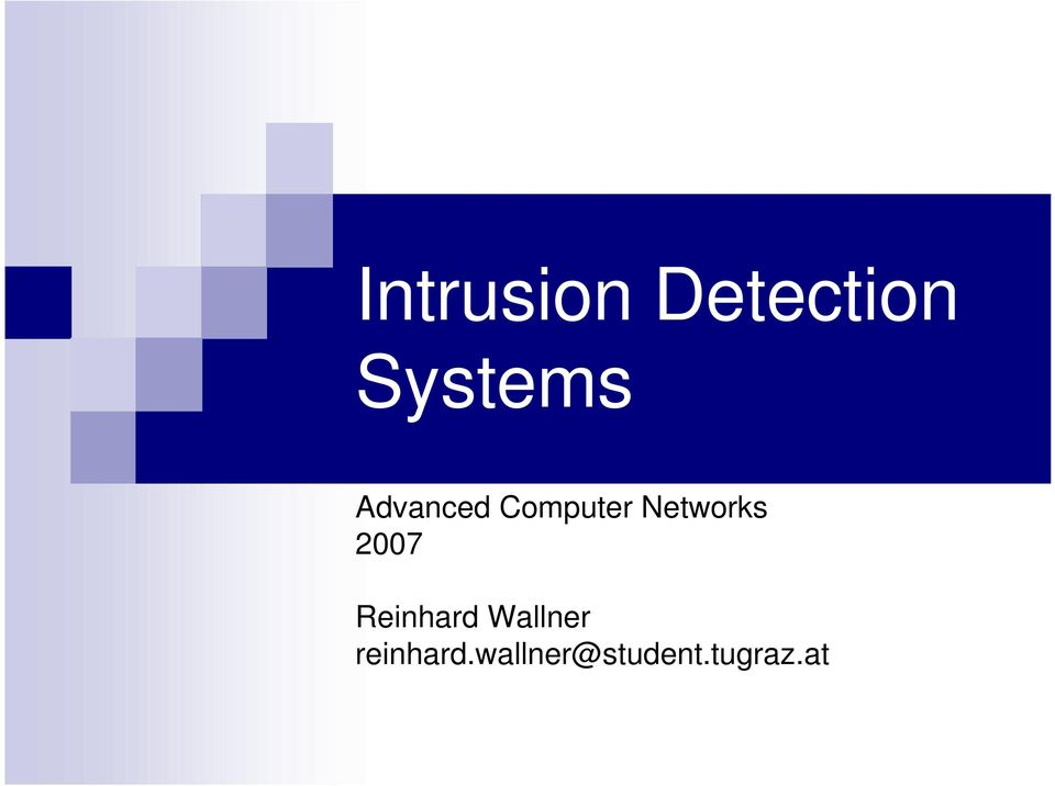 intrusion paper Concentration of this paper is on the security of enterprise's data by intrusion detection while employing cloud computing the goal of this research is recognizing the security threats.