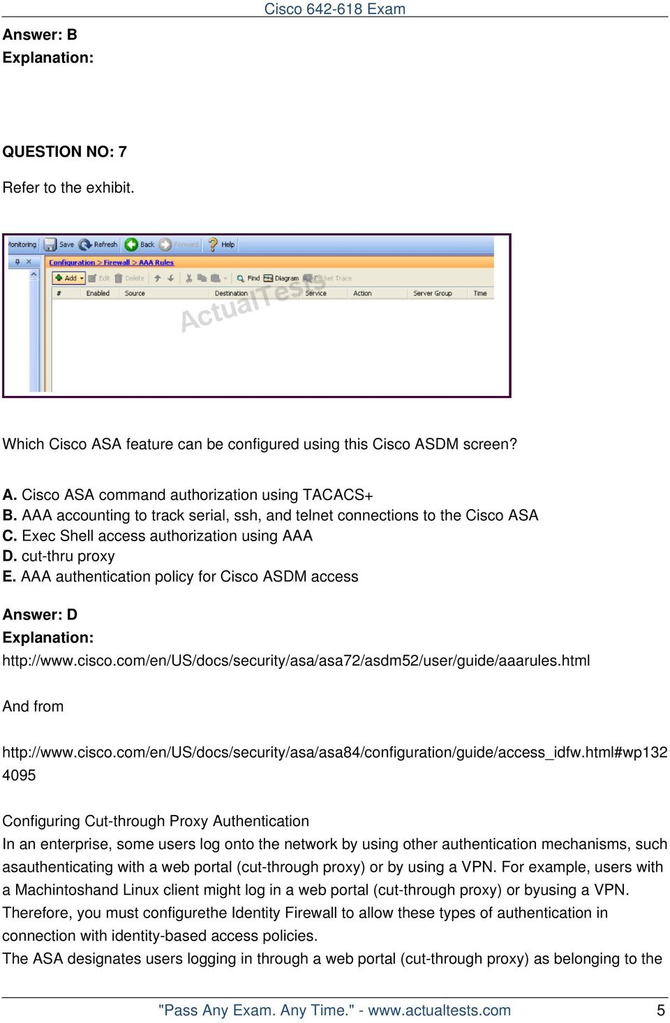 Cisco Deploying Asa Firewall Solutions V20 Console Cable Wiring Diagram Http Wwwciscocom En Us Docs Aaa Authentication Policy For Asdm Access Answer D