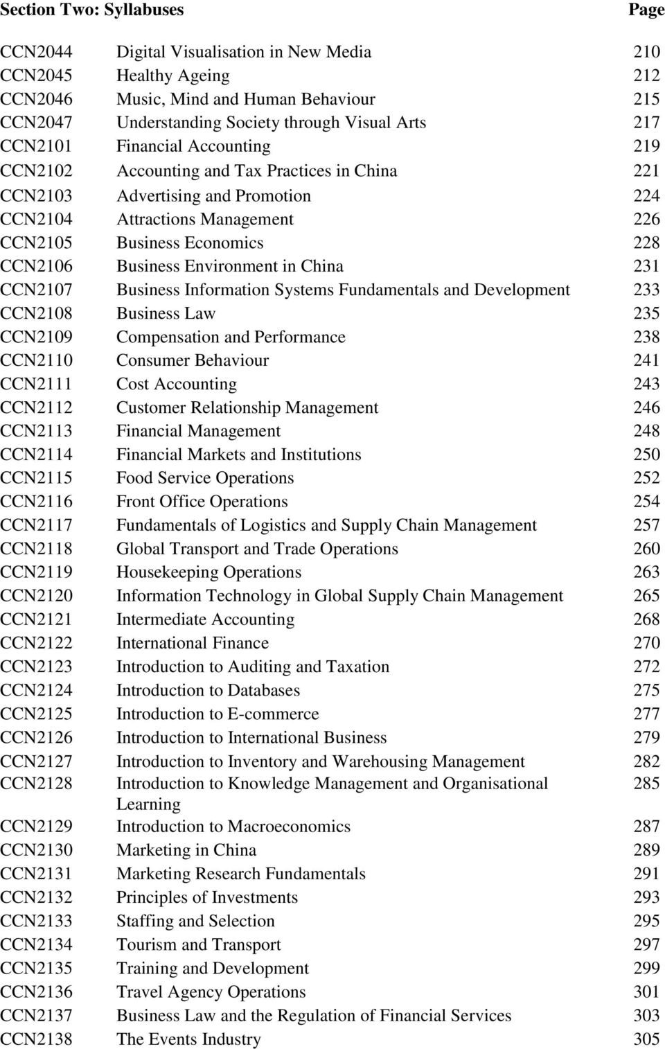 Business Environment in China 231 CCN2107 Business Information Systems Fundamentals and Development 233 CCN2108 Business Law 235 CCN2109 Compensation and Performance 238 CCN2110 Consumer Behaviour