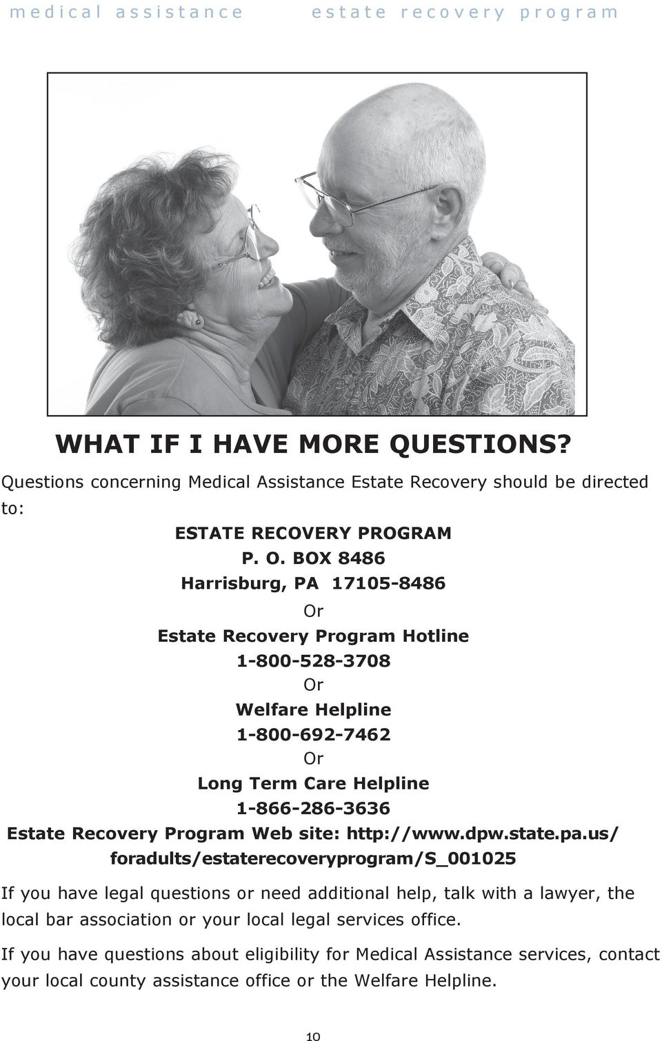 Recovery Program Web site: http://www.dpw.state.pa.