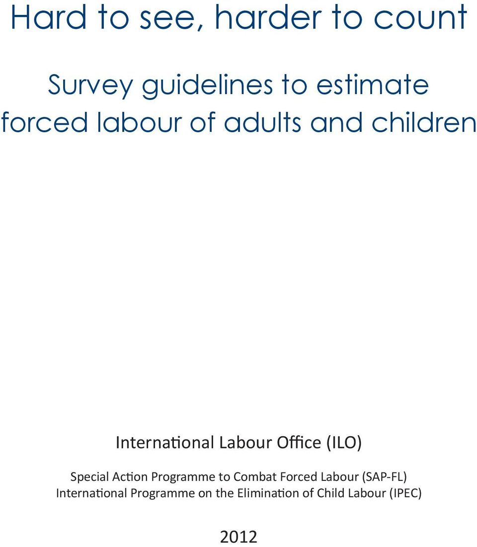 (ILO) Special Action Programme to Combat Forced Labour (SAP-FL)