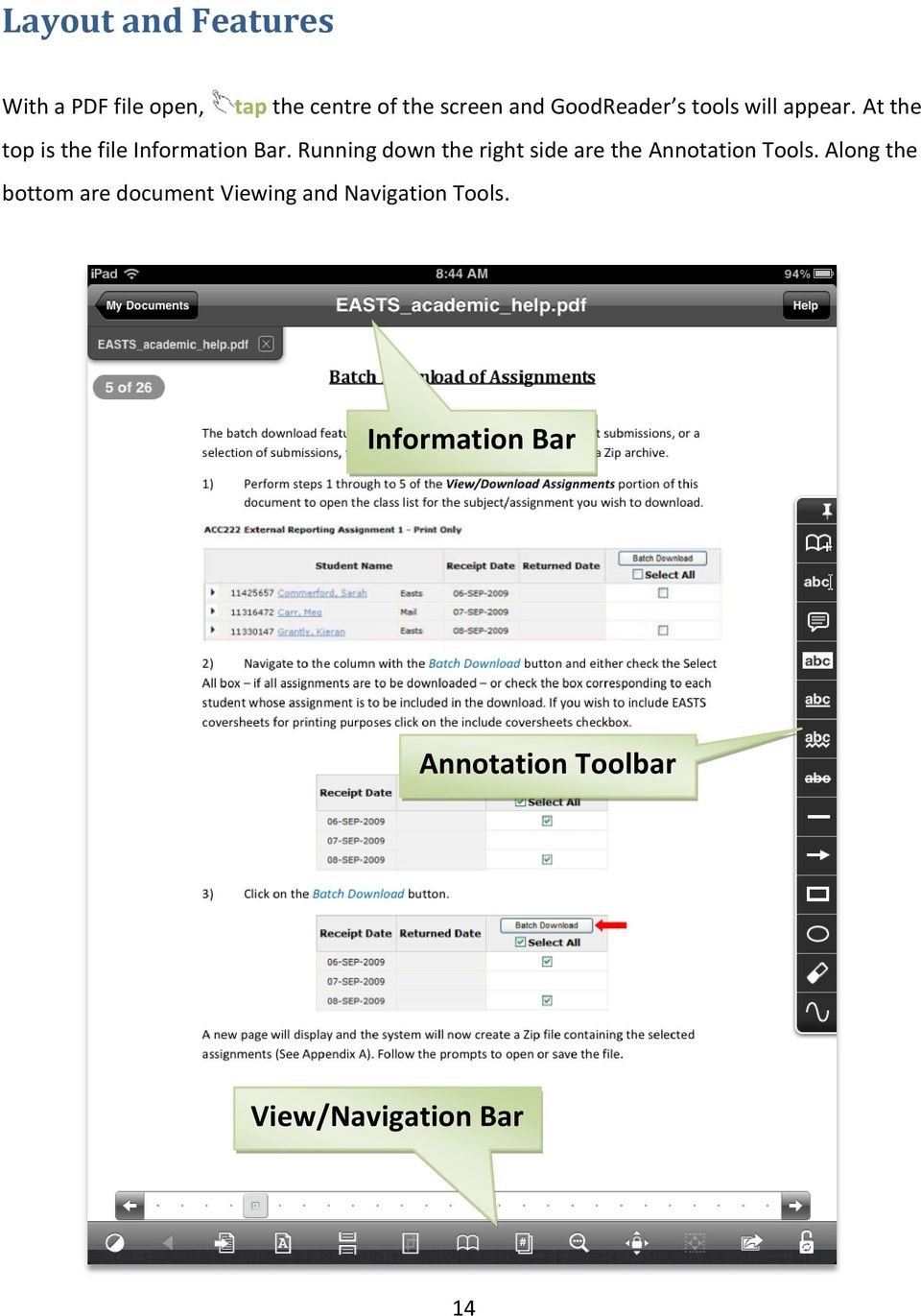 Running down the right side are the Annotation Tools.