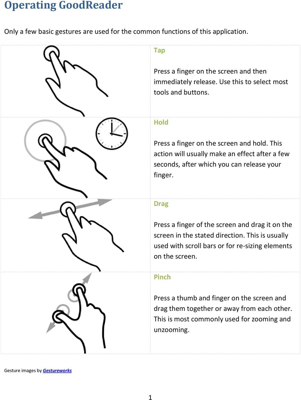 This action will usually make an effect after a few seconds, after which you can release your finger.