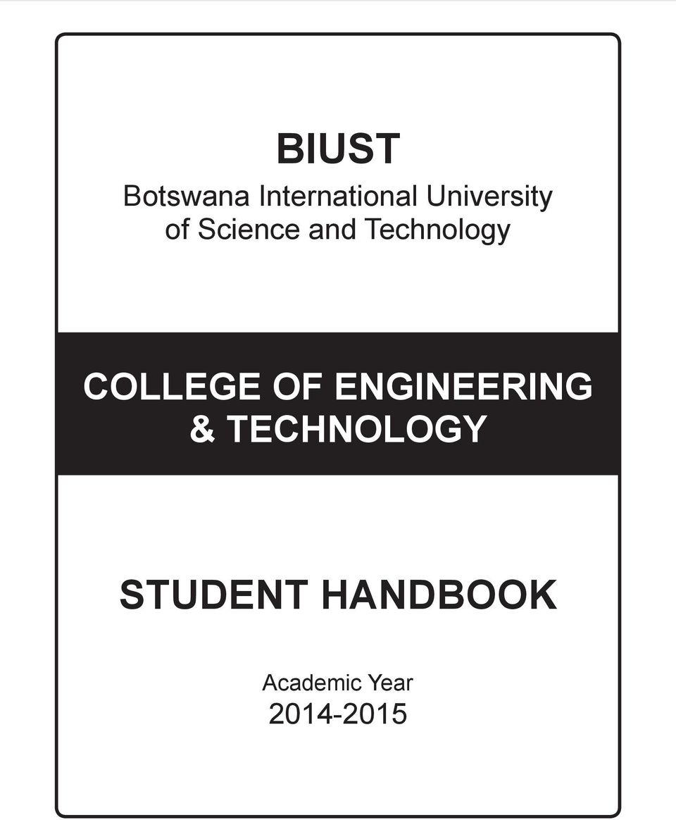 Technology College Of Engineering & Biust College Of Engineering &  Technology Handbook College Of How To Calculate Gpa