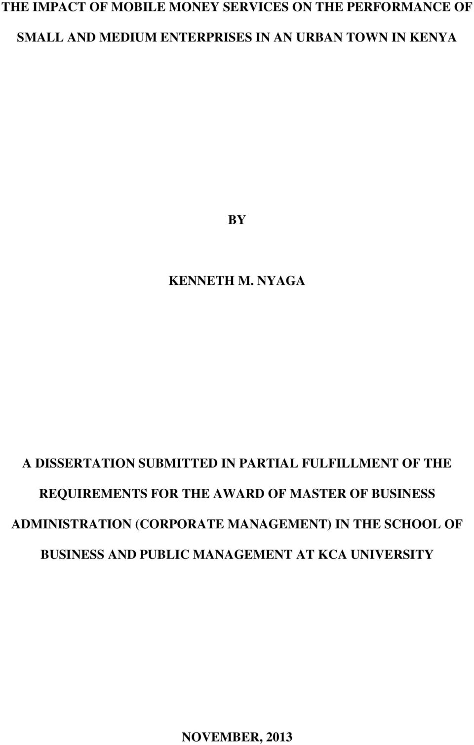 master of business administration dissertation submitted to Sample dissertation / thesis example  master's or mba paper  it may even be of greater importance to your academia than any other paper you have submitted before.