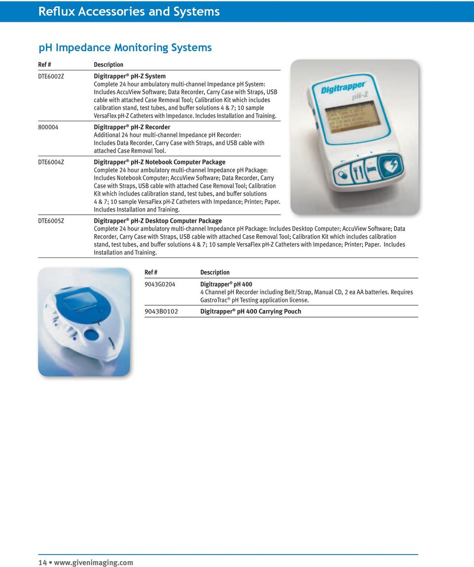 Catheters with Impedance. Includes Installation and Training.
