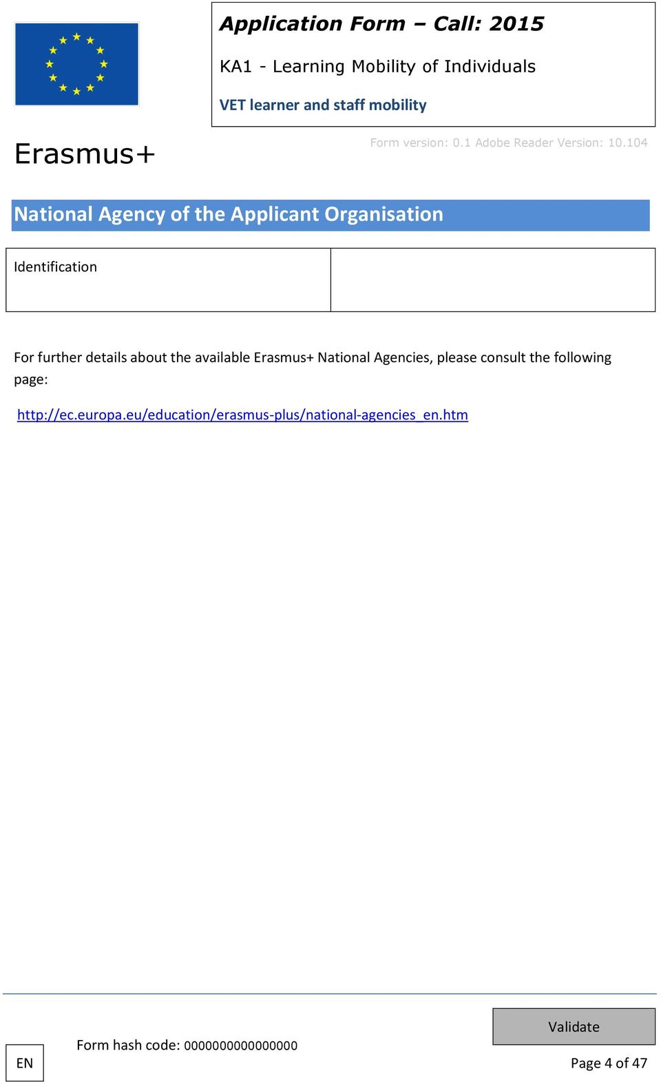 National Agencies, please consult the following page: