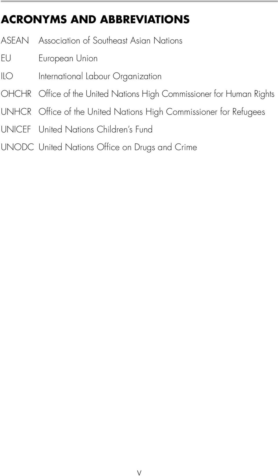 Commissioner for Human Rights UNHCR Office of the United Nations High Commissioner for