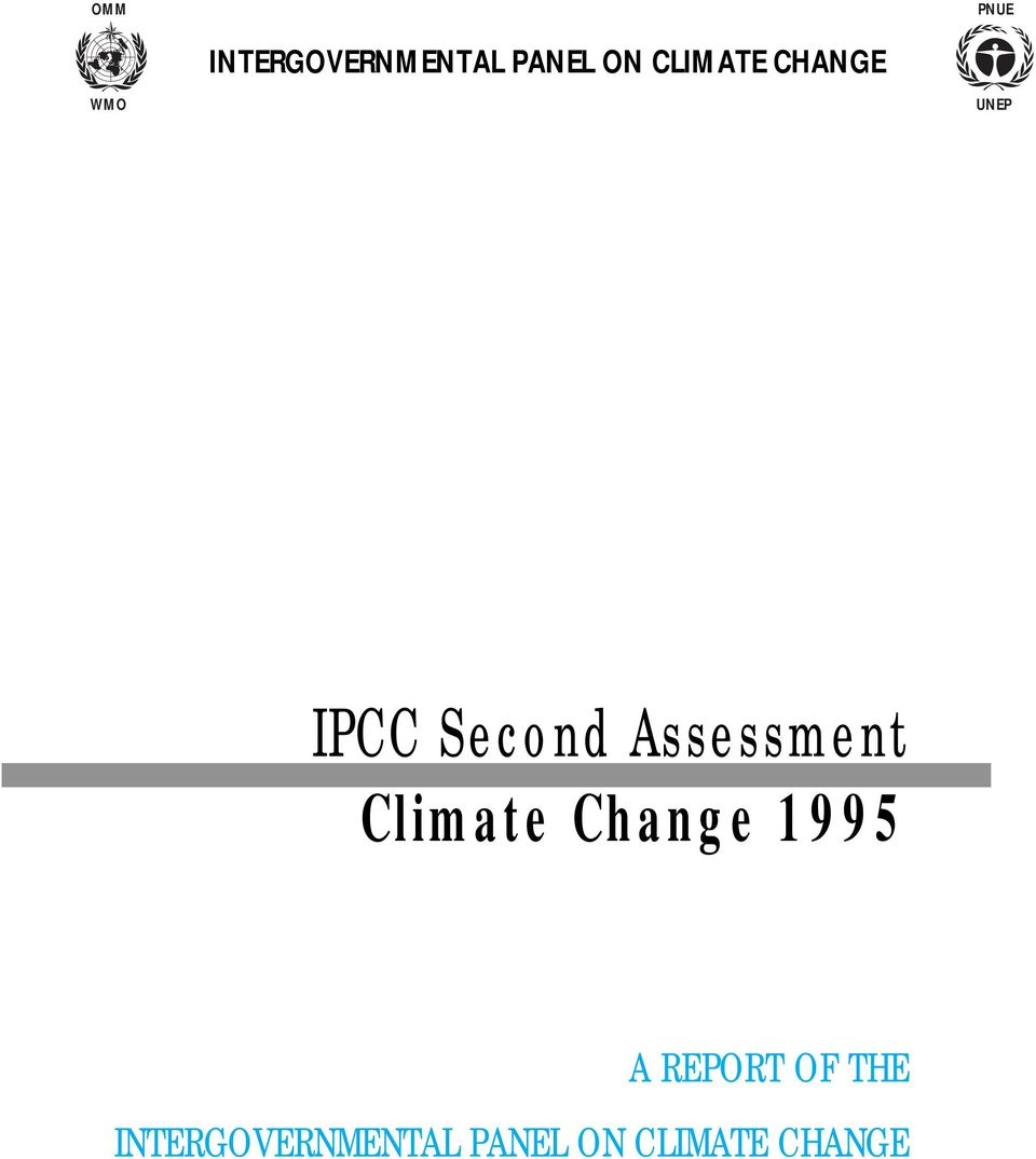 Assessment Climate Change 1995 A REPORT