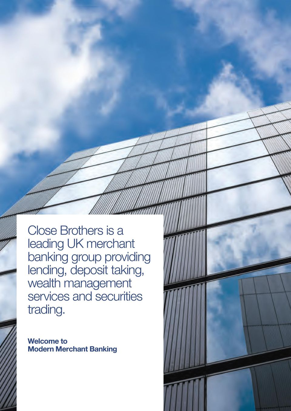 taking, wealth management services and