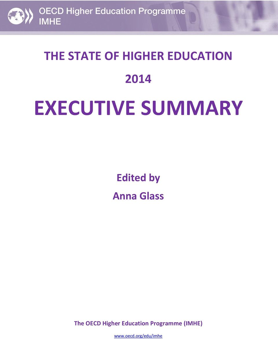 Glass The OECD Higher Education