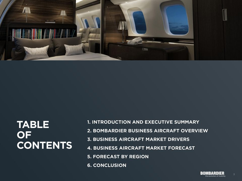 BOMBARDIER BUSINESS AIRCRAFT OVERVIEW 3.