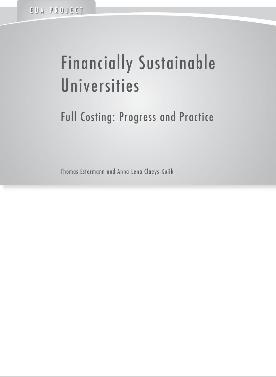 Costing: Progress and Practice