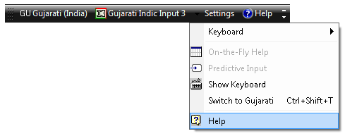 Gujarati Indic Input 3 - User Guide 14 To switch to Gujarati Language again, select Switch to Gujarati option from Settings