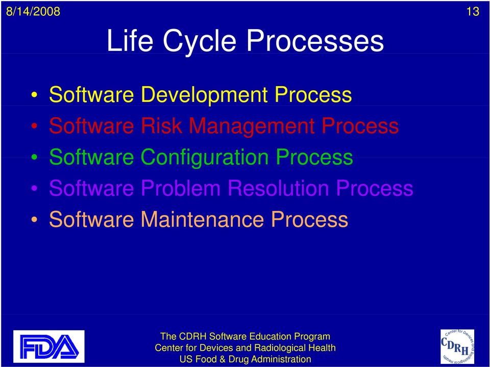 Software Configuration Process Software