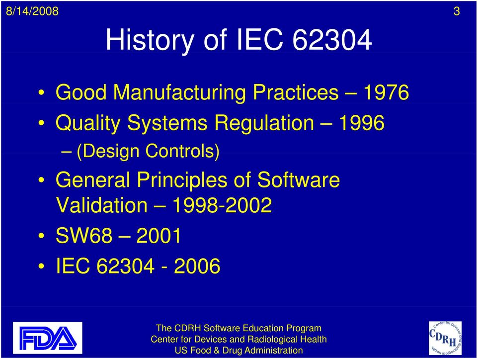 1996 (Design Controls) General Principles of
