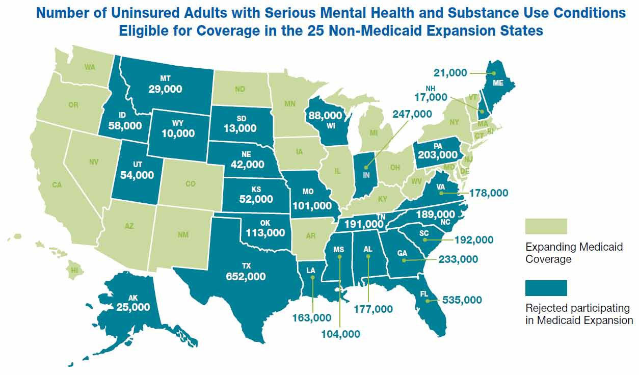 Issue Spotlight: Insuring Individuals with Mental Illness As part of the ACA, states were given the option of implementing their own state-run health exchange or using a federally-facilitated