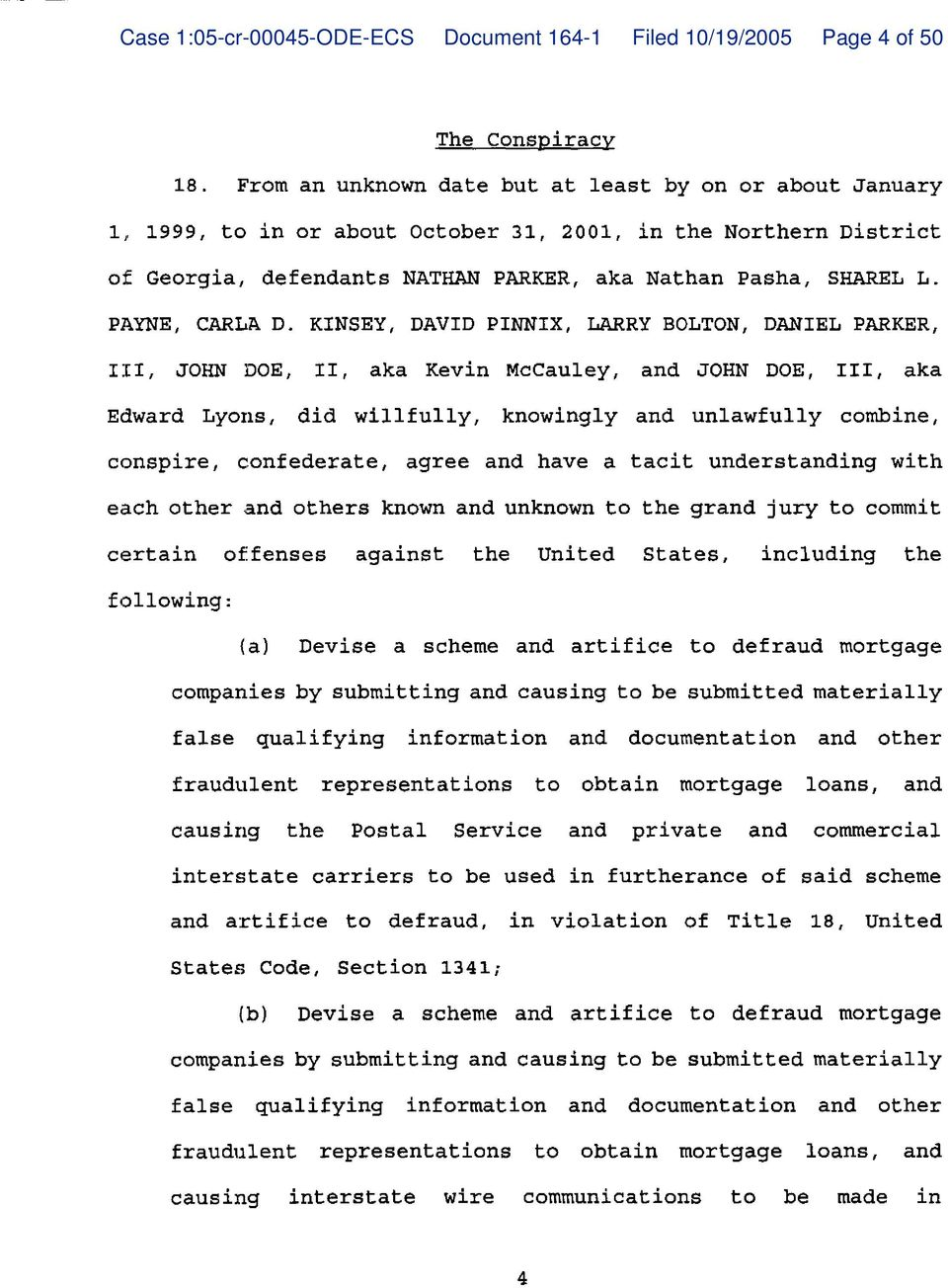 Case 1:05-cr ODE-ECS Document Filed 10/19/2005 Page 1 of 50. IN THE ...