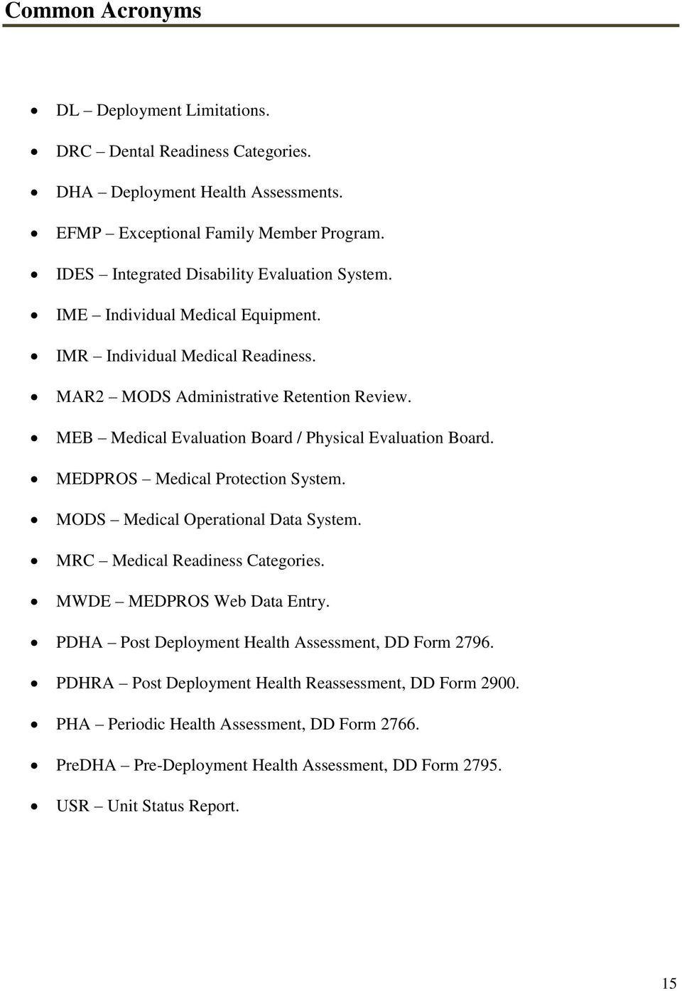 Commander s medical readiness and deployment guide pdf meb medical evaluation board physical evaluation board medpros medical protection system mods medical sciox Image collections