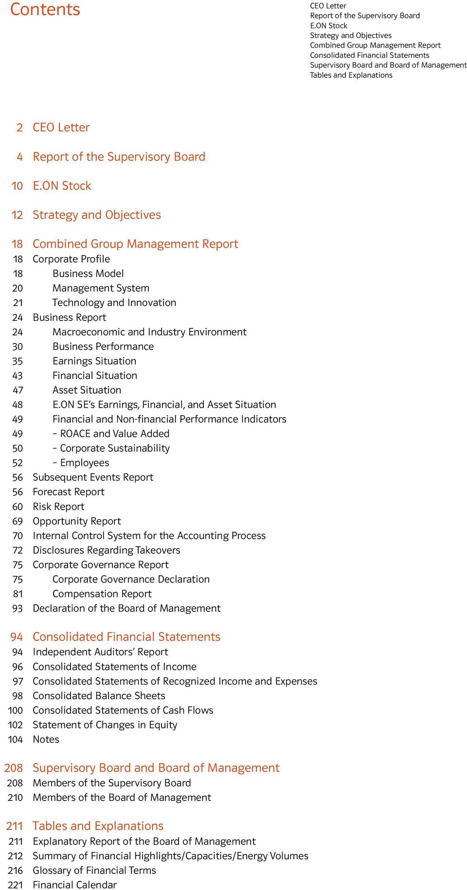 ON Stock 12 18 Combined Group Management Report 18 Corporate Profile 18 Business Model 20 Management System 21 Technology and Innovation 24 Business Report 24 Macroeconomic and Industry Environment